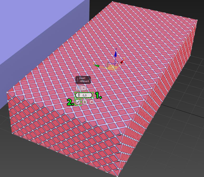 Создание отверстий с помощью инструмента Inset