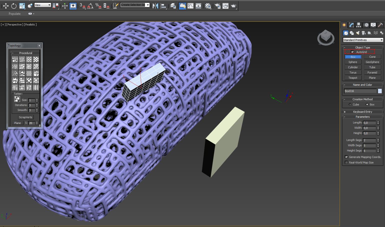 Создаем отверстие в 3д модели
