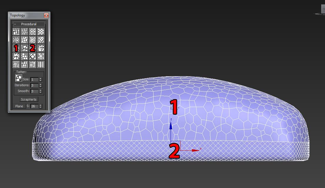Отделяем часть полигонов от основной 3d модели часть 2